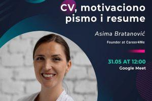 BDC klub organizirao webinar pod nazivom CV, motivacijsko pismo i resume